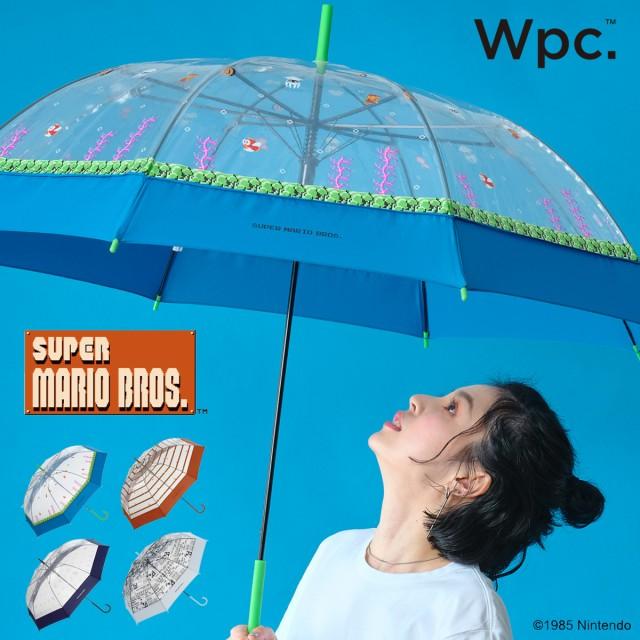【レビューを書いてポイント+5%】Wpc. 雨傘 ビニール傘 スーパーマリオブラザーズ 60cm メンズ レディース PT-ND おしゃれ かわいい キ
