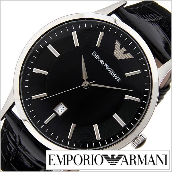 3ea4af3ed5 エンポリオアルマーニ腕時計 EMPORIO ARMANI 腕時計 エンポリオ アルマーニ 時計 クラシック Classic メンズ/ブラック  AR2411