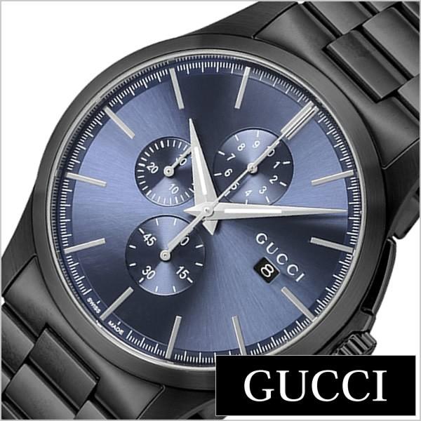 1ef99716b1c3 グッチ腕時計 GUCCI時計 GUCCI 腕時計 グッチ 時計 Gタイムレスクロノ G Timeless Chrono メンズ ブルー
