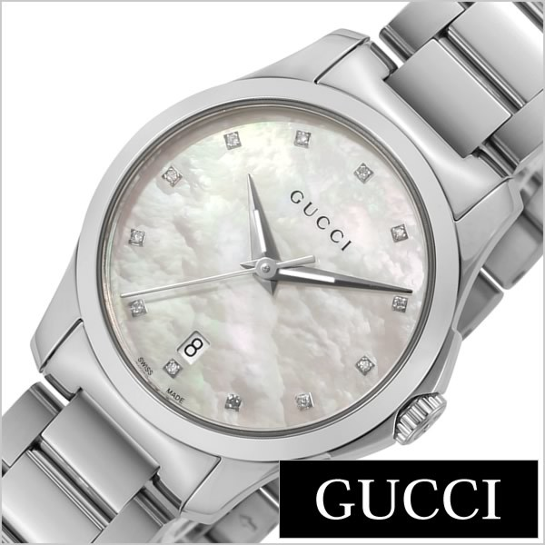 65336a809bb8 グッチ腕時計 GUCCI時計 GUCCI 腕時計 グッチ 時計 Gタイムレス G Timeless レディース ホワイト YA126542