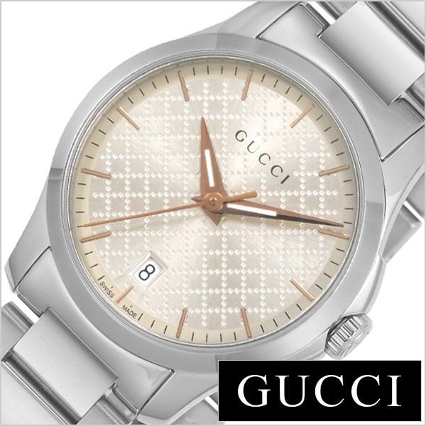 c05925e8b6e7 グッチ腕時計 GUCCI時計 GUCCI 腕時計 グッチ 時計 Gタイムレス G-TIMELESS レディース ホワイト YA126593