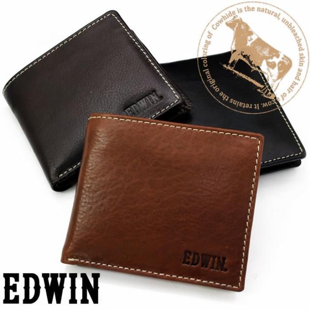 ccad6a94c47a メンズ財布 短財布 二つ折り 折財布 本革 エドウィン EDWIN ブランド 財布 0510430【