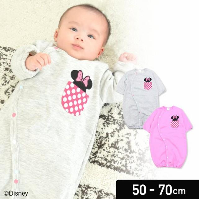 41d99565cf6ed ミニーマウス DISNEY ベビー服 新生児 子供服 長袖 ツーウェイオール 兼用ドレス カバーオール 裏毛 女の子