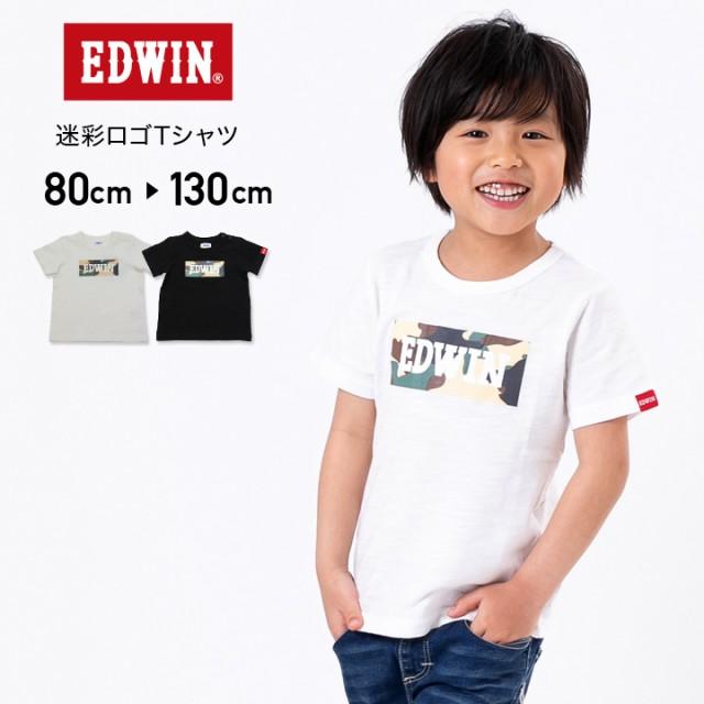 a45bdd729ab3a エドウイン エドウィン EDWIN ベビー キッズ 子供服 半袖 Tシャツ ロゴ 迷彩 天竺 男の子 夏 80