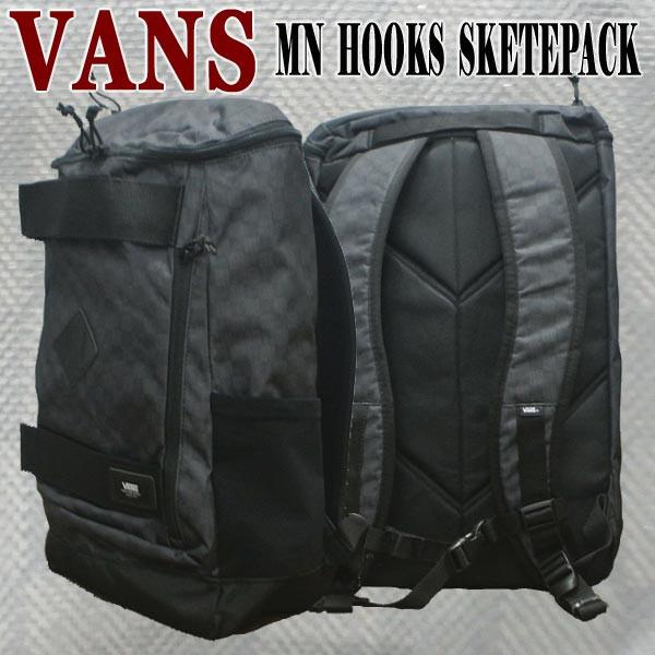 bdef27f5c6068 VANS バンズ ヴァンズ HOOKS SKATEPACK BLACK CHARCOAL BACKPACK 鞄 リュック バックパック