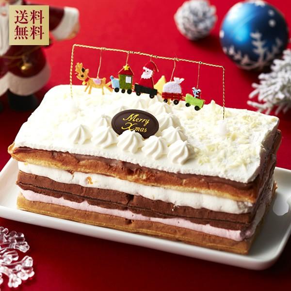【送料無料】クリスマスケーキ ホワイトXmasワッフル /ギフト お菓子 /お歳暮 /クリスマスケーキ