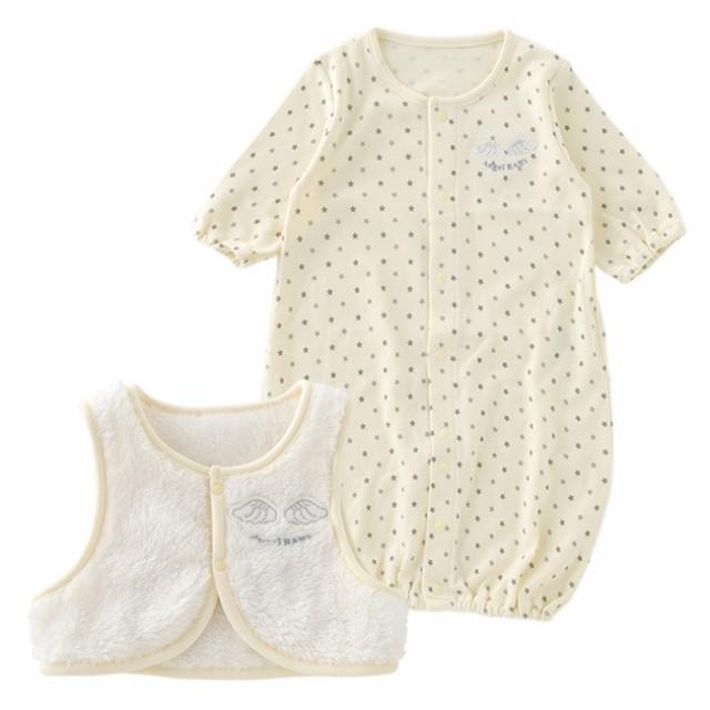 beecff5e07c1e ベスト付き新生児ツーウェイオール ベビー服  赤ちゃん  ベビー  ツーウェイ