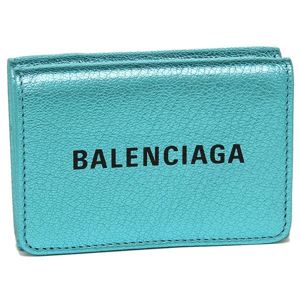 バレンシアガ 折財布 レディース BALENCIAGA 551921 00R1N 4260 ブルー ブラック