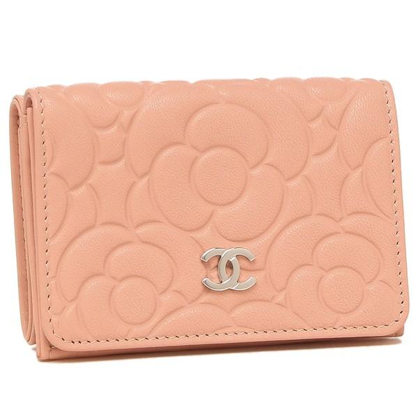 シャネル 財布 三つ折り財布 レディース カメリア CHANEL AP0116 B00077 N0411 ピンク【返品OK】