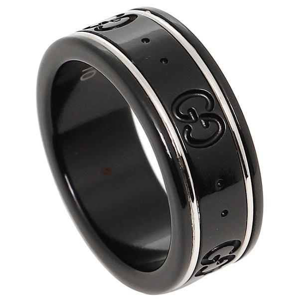 f546635afc57 グッチ GGアイコン リング/指輪 225985 I19A1 8061 K18ホワイトゴールド/コランダム ブラック レディース