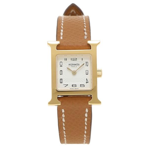 【P10% 〜9/21 9:59】エルメス 時計 腕時計 レディース Hウォッチ HERMES 037893WW00 ブラウン ゴールド