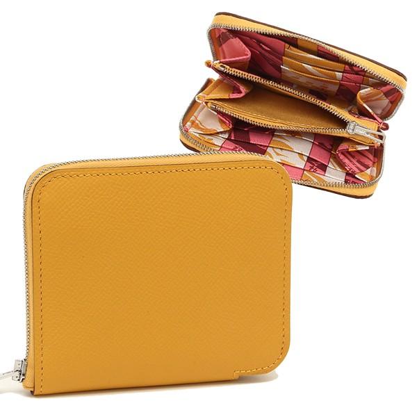 2ed69d7ec8a1 エルメス 折財布 レディース HERMES 077620CK AC C イエローの通販は ...