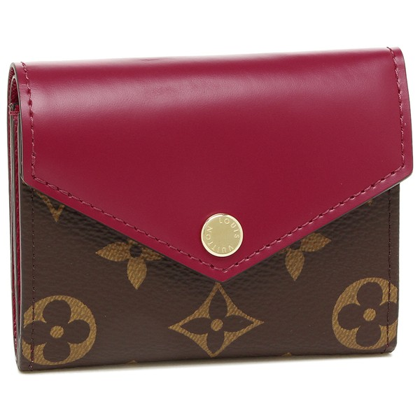 ルイヴィトン 折財布 レディース LOUIS VUITTON M62932 ブラウン ピンク【返品OK】