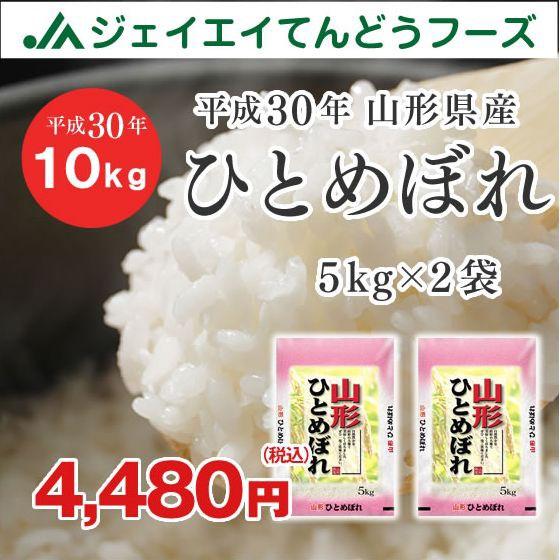 米 お米 山形県産 ひとめぼれ 精米 10kg(5kg×2袋) 平成30年産 ryi10