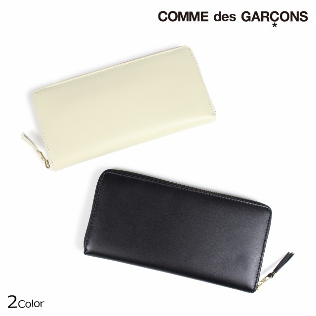 f2d0b8a1b610 コムデギャルソン 財布 メンズ レディース 長財布 ラウンドファスナー COMME des GARCONS SA0110 ブラック オフホワイト
