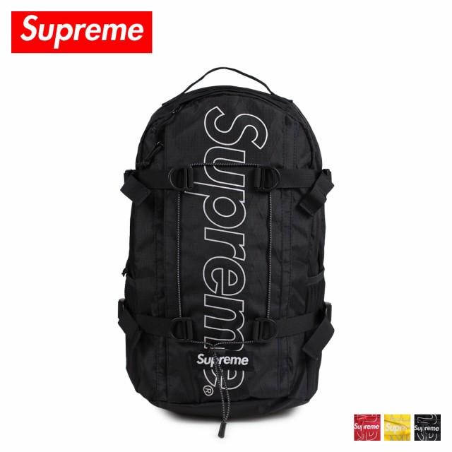 8ad4333d78 シュプリーム Supreme リュック バッグ バックパック メンズ レディース 24L BACKPACK ブラック レッド イエロー