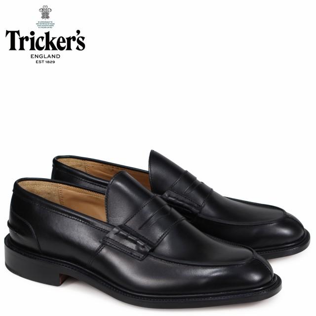 トリッカーズ Tricker's ローファー シューズ JAMES 5ワイズ メンズ ブラック 3227
