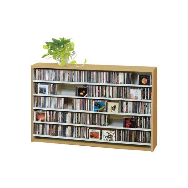 ca557a825f CDラック おしゃれ DVDラック ロータイプ 大容量 CD 収納 ディスプレイ 棚 ナチュラル