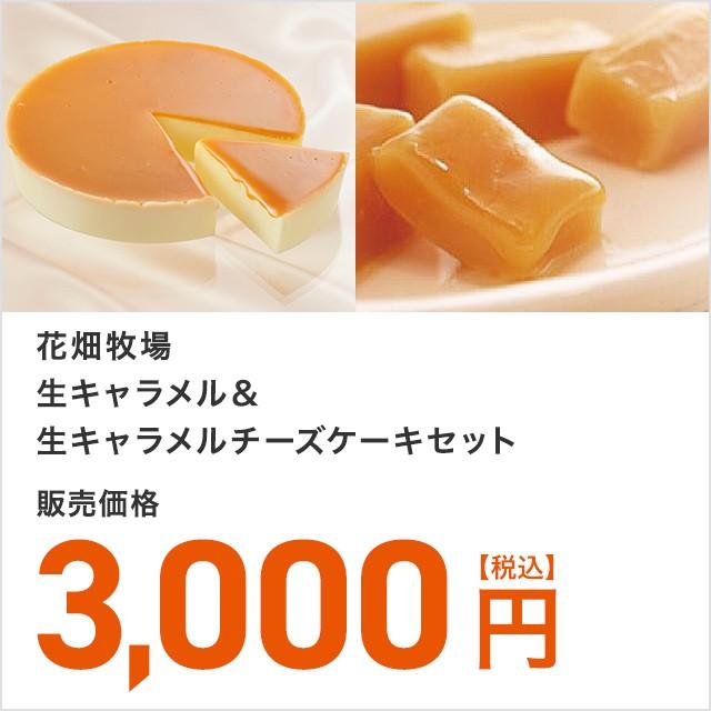 花畑牧場 生キャラメル&生キャラメルチーズケーキセット