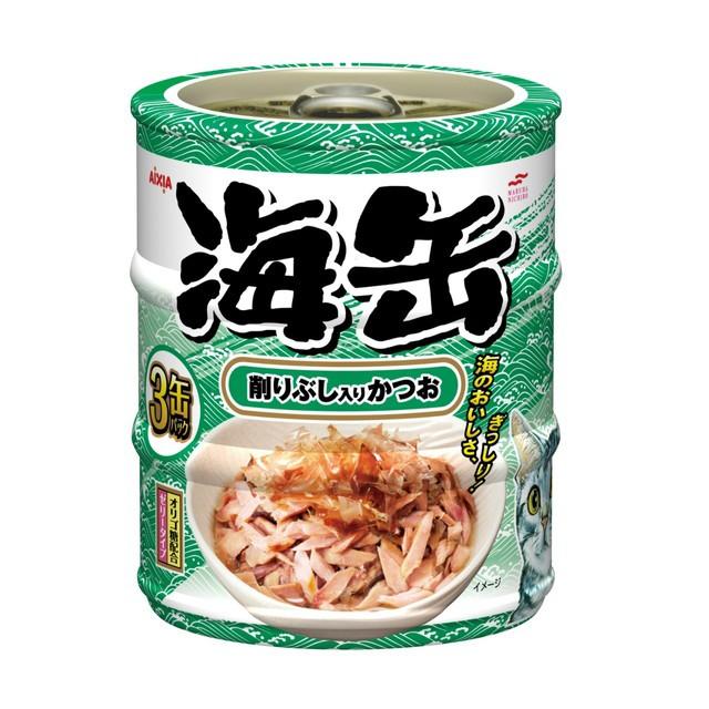 アイシア 海缶ミニ 削りぶし入りかつお 60g...