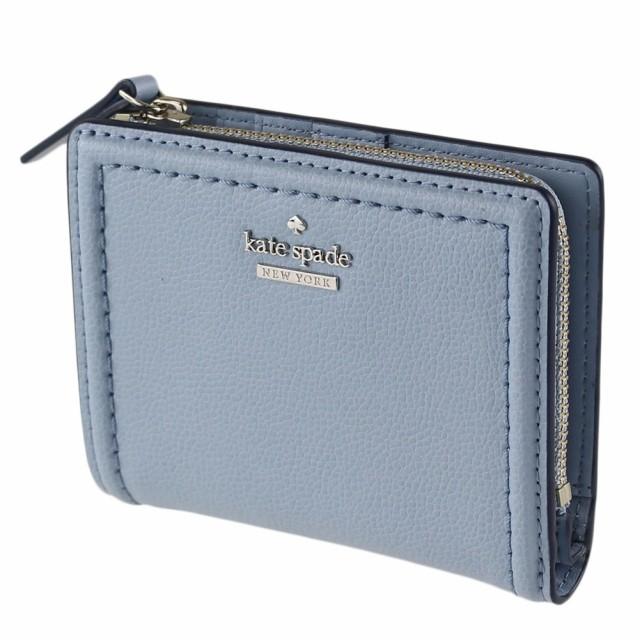 ca2534a21abb ケイトスペード 折りたたみ財布 KATE SPADE wlru5294 ブルーの通販は ...