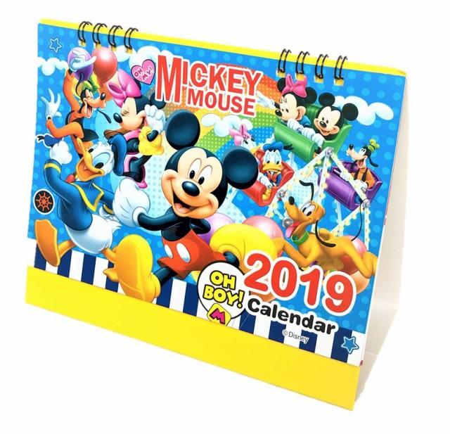 卓上カレンダー ディズニー ミッキーマウス 2019年 カレンダー 送料無料