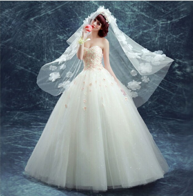 1287502262e5e ウェディングドレス 春ドレス ドレス 花びら サーモンピンク カラードレス 結婚式 披露宴 刺繍  プリンセス