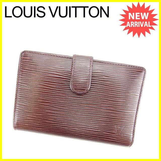 8a7ccc628fc9 ルイ ヴィトン Louis Vuitton がま口財布 財布 小物 サイフ 二つ折り財布 エピ 【中古】
