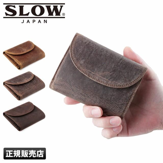 SLOW スロウ 二つ折り財布 フラップ ショート ウ...