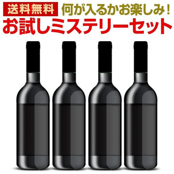 お試しワイン4本ミステリーセット!