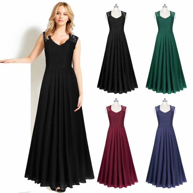 4245dc8a1e7a7 ロングドレス ドレス 結婚式 大きいサイズ ワンピース お呼ばれ パーティードレス フォーマルドレス 二次会 演奏会
