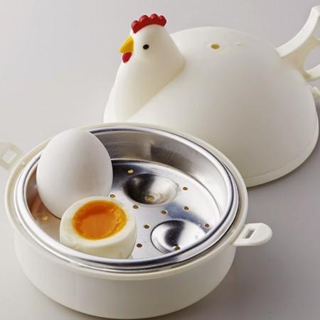 在庫限り!! 電子レンジ用 ゆでたまごメーカー(ゆでたまご4個用)ゆでたまご エッグクッカー ゆで卵