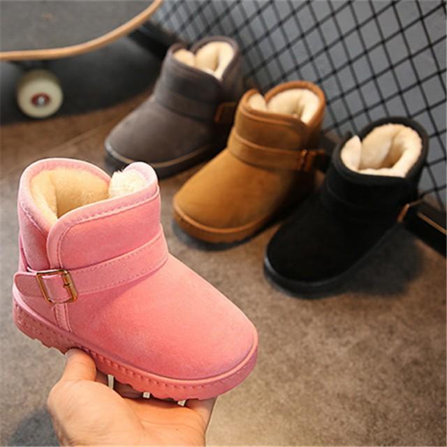 c372b36b09507 子供 ムートンブーツ キッズショットブーツ 子供靴 女の子 ぺたんこ おしゃれ 防水 キ 裏起毛ブーツ