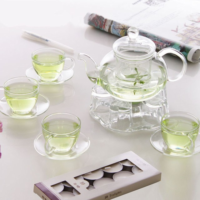 茶器 セット ガラスポット ティーポット ティーカップ 耐熱透明 急須水出し茶ポット プレゼント ギフト ポータブル茶器