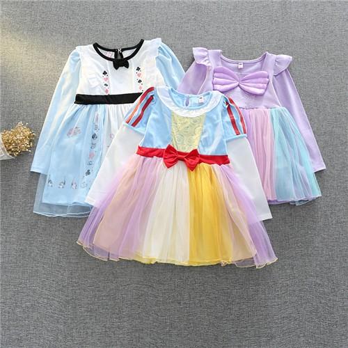39ae7f6599725 子供ディズニープリンセス キッズ シンデレラ ワンピース なりきりワンピース プリンセスドレス 子どもドレス プリンセス