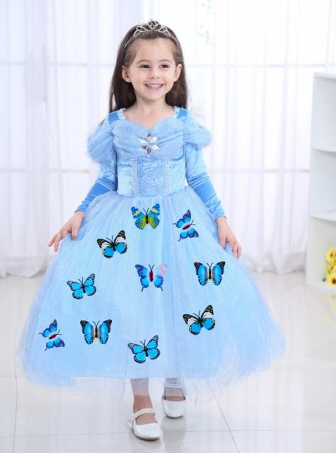 9075effaffe46 ディズニープリンセス キッズ シンデレラ ワンピース なりきりワンピース プリンセスドレス 子どもドレス プリンセス キッズドレス