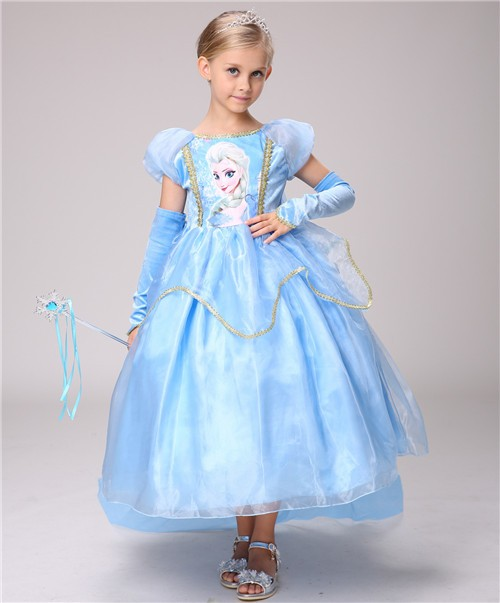 06450bf8766c9 LU83ディズニープリンセス アナ雪 エルサ キッズ子ども お姫様 コスチューム エルサドレス 子供用ドレス キッズドレス