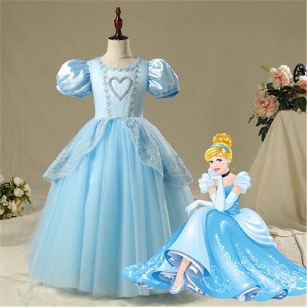 02271413aef09 ディズニープリンセス 子供用ドレスシンデレラ 仮装 キッズ コスチューム 女の子 半袖