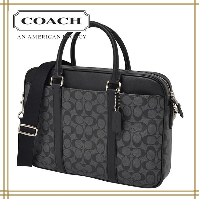 833453d17398 COACH/コーチ ビジネスバッグ 2wayブリーフケース チャコール×ブラックF54803/メンズバッグ/