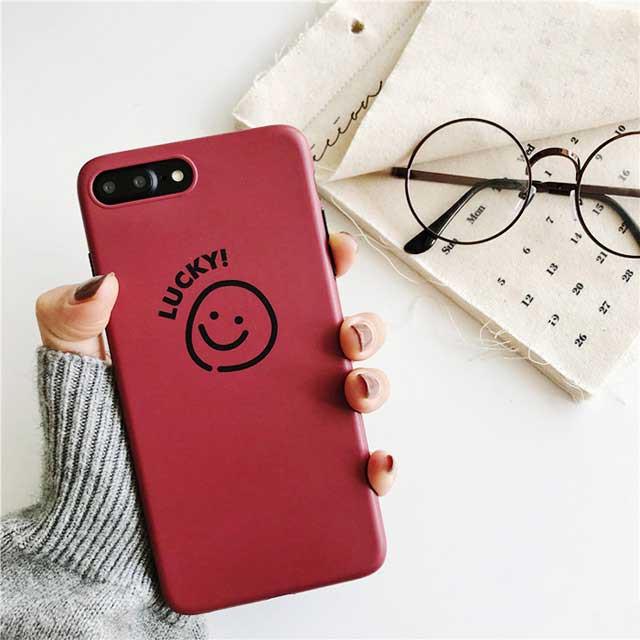 にこちゃん イラスト ゆる シェルカバー レッド 可愛い Iphone 6 6s