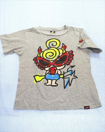 64fe4b4602f97 ヒステリックミニ HYSTERIC mini Tシャツ 半袖 130cm グレー系 キッズ トップス 男の子 女の子 子供服