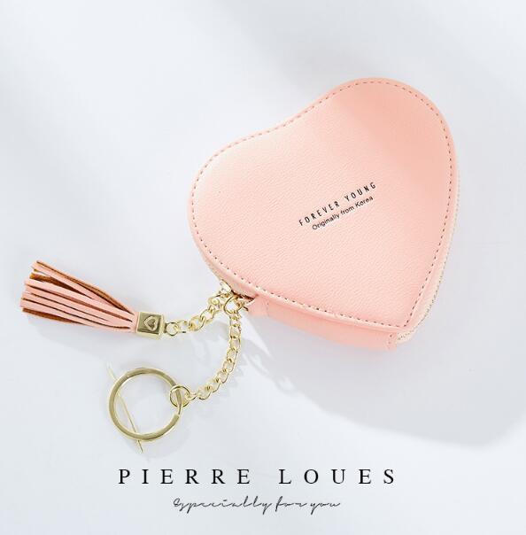 かわいい財布 小銭入れ財布 心財布 キーホルダー レディース財布 女の子財布 化粧品財布