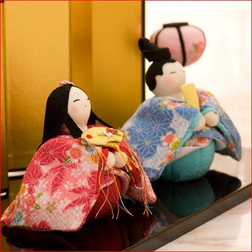 【送料無料】雛人形 ひな人形 ちりめん コンパクト 小さい ミニ春風親王雛 お雛様 ひな祭り龍虎堂 のし可