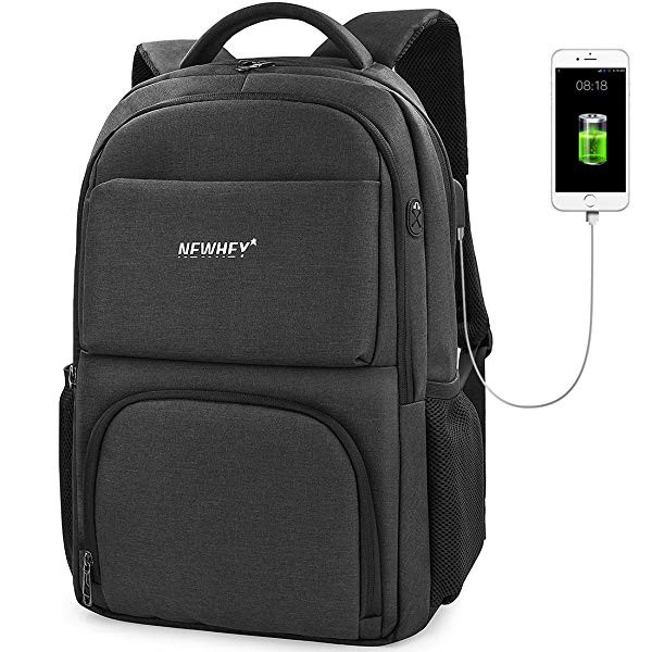 c1c8e1ea909d [ニューヘイ]ビジネスリュック PCバッグ リュックサック メンズ 防水 USB充電ポート 盗難防止