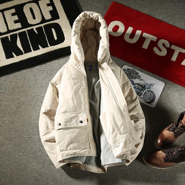 3fd22591e80ac7 メンズ アウター・ジャケット・コート フード付き ジャンパー 中綿 あったか 冬 防寒 グリーン 大きいサイズ