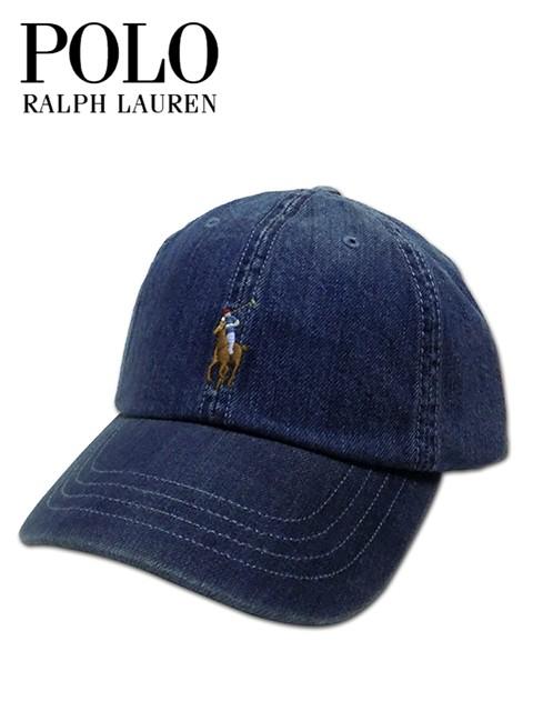 ebadbe9e3d2c8 タイムセール メンズ レディース キャップ ブルー Polo Ralph Lauren ポロラルフローレン デニムワンポイントポニー