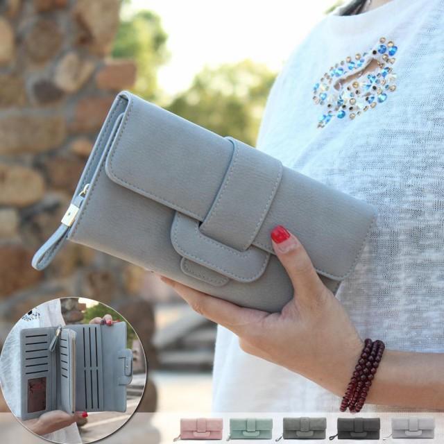 decdcc1b111c 長財布 レディース 大人可愛い かわいい かぶせ 軽い カード 大容量 大きめ おしゃれ 女の子 黒スマホ