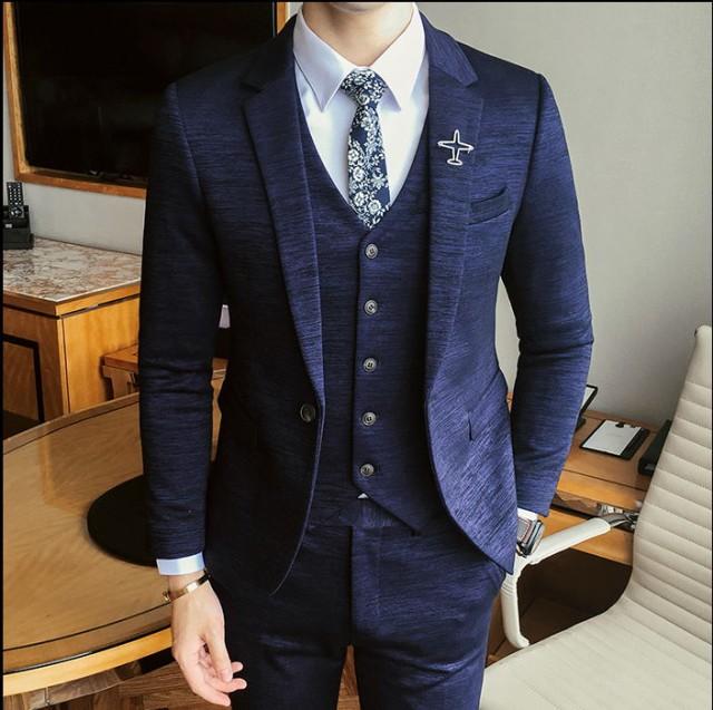 5acaf8026c995 高級品 人気モデル 3点セットアップ 紳士服 結婚式 二次会 細身 イギリス風 スーツ
