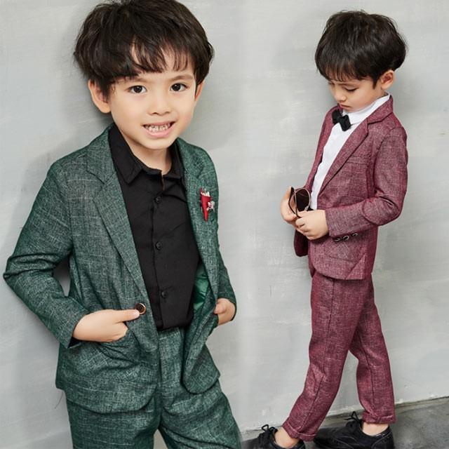 0d4cd85afaa1e 子供スーツ 2019新作 ジャケット+ズボン男の子 フォーマル 子供服 2点セット 入学式