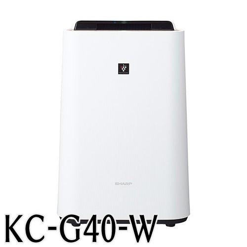【後払い不可】シャープ 加湿空気清浄機 KC−G40W 高濃度「プラズマクラスター7000」技術搭載